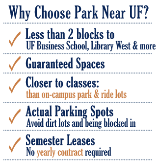 ParkNearUF com: Parking Close to the University of Florida